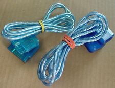 Blue x2 ps 2 one ps1 playstation game controller extension 6ft plug meter cable