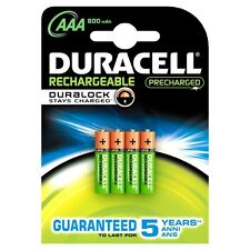 Duracell HR03-A Rechargeable Accu StayCharged 800 mAh AAA Batteries - 4-Pack