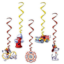 Dalmatian FIRE STATION WHIRLS Party DECORATIONS Fire Truck FIREFIGHTER Fireman