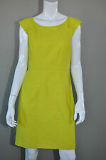 ANN TAYLOR Neon Chartreuse Tweedy Bright Sheath Dress sz 10 P NWT $138