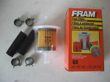 "Fram G3 G-3 3/8"" Inline Plastic Gas/Fuel Filter w/ Hoses & Clamps"