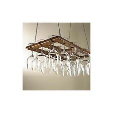 Hanging Mahogany Wine Glass Rack [Kitchen]
