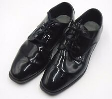"AFTER SIX ""RADIO CITY"" PATENT LEATHER TUXEDO OXFORD DRESS SHOES ~ SIZE 9.5 W"