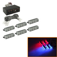 6 X 3 LED Emergency Warning Car Auto Boat Grill Bar Police Strobe Light