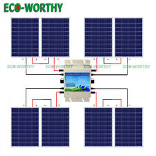 800W 24V Home System Kit 100W Solar Panel W/ 1200W 24V-110V Waterproof Inverter