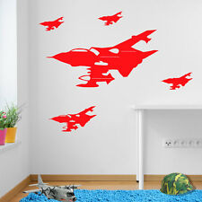 Army Military Plane Jets Tornadoes Kids Vinyl Sticker Mural C Decor Airplane A42