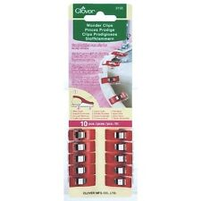 Clover Standard Size Red Wonder Clips - 10 Pack For Sewing, Crafts & Quilting