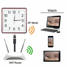 WIFI 1080P HD Alarm Clock Spy Wireless IP Camera Motion DVR Digital Video Record