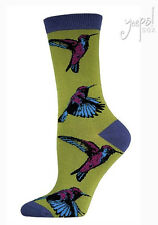 Hummingbird Crew Socks - Socksmith Birds NEW Bamboo Hummingbird novelty socks