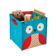 Lovely cartoon Toy Chest toy books shoes folding storage box, Owl