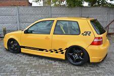 Carbon Seitenschweller ansätze VW Golf 4 IV R32 GTI Skirts Leisten Schweller ABS