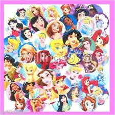 100 Precut assorted All DISNEY PRINCESSES Variety Mix BOTTLE CAP IMAGES