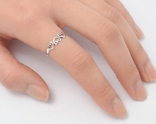 Silver Triple Heart Rings Sterling Silver 925 Plain Low Price Jewelry Size 10