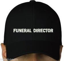 FUNERAL DIRECTOR EMBROIDERED CAP BLACK HAT DOOM DEATH Metal Negro