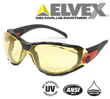 Elvex Go-Specs™ Amber Glasses/Googles Shooting-Motorcycle-Safety-ANSI- 99.9% UV