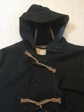 RALPH LAUREN DENIM & SUPPLY MENS BLACK WAXES CANVAS DUFFLE JACKET