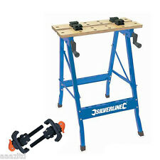 FOLDING WORKBENCH & 2 CLAMPS workmate vice bench table 100kg work bench