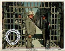 Ernest Borgnine COLOR still THE BADLANDERS (1958) Western Noir, vintage studio !