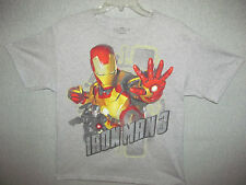 IRON MAN 3  GRAPHIC T-SHIRT  YOUTH  SIZE  XXL GRAY BY MARVEL