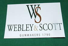 Webley & Scott Gun & Rifle Maker Repo Gunmakers Case Label Accessory Artifact