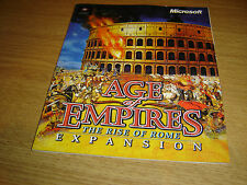 AGE OF EMPIRES THE RISE OF ROME EXPANSION PC GAME INSTRUCTIONS BOOKLET MANUAL