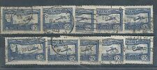 France - 1930 airmail issue-dix utilisé exemples