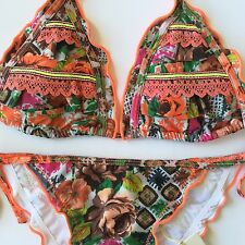 Agua Bendita Swimwear New With Tags Bikini Set Size M Bathing Suit Colombia