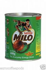 Nestle Milo Chocolate Malt Energy Drink 400 g Tin, 4 Pack, Made in Singapore