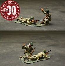 FIGARTI PEWTER WW2 AMERICAN ETA-042 U.S. 101ST AIRBORNE HERE THEY COME SET 2 MIB