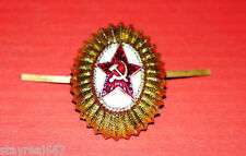 Authentic Soviet Army Hat Cap Badge Cockade Cocarde Red Star Sickle & Hammer