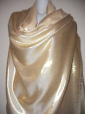 WEDDING CAPE GOLD SCARF SHAWL STOLE GIFT BLANKET PARTY PASHMINA WRAP TARTAN SEXY