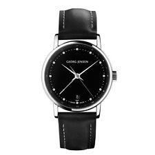 Georg Jensen Ladies' Dual Time Watch # 429 - Black Dial - KOPPEL