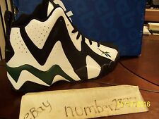 NEW Retro Reebok Kamikaze II Mid OG Supersonics White Black Green size 10.5