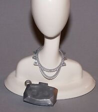 Accessories - Barbie Doll Fashionista Dreamhouse Silver Necklace & Purse Lot