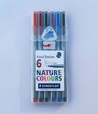 STAEDTLER triplus fineliner 334SB6CS2  0.3mm  6 assorted NATURE colors Pen SET