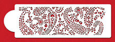 Paisley Henna Mehndi Patterns Cake Side Cupcake Stencil Flexible Cookie Stencil