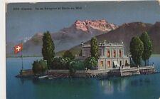 Switzerland, Clarens, Ile de Salagnon et Dents du Midi 1913 Postcard, B346