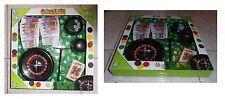 Roulette completa,  scatola cm 33x33, con gettoni (euro), dadi e carte da gioco
