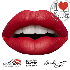 MODELROCK Liquid to Matte Lipstick ROCK OUT RED model rock lipcolour last Vegan