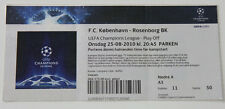 old TICKET CL FC Copenhagen Denmark - Rosenborg Trondheim Norway