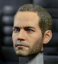 """Custom 1/6 Scale Sculpt Paul Walker Head for Hot Toys 12"""" Body Male Headplay"""