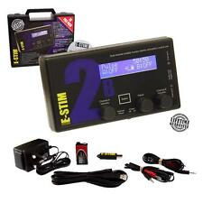 E-Stim Propack 2B Estim Digital Power Box +PSU+ Remote PC Link 17 Modes 2 Output