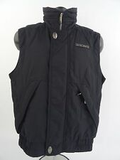 Descente Mens Black Full Zip Puffer Winter Ski Vest size XS Vintage