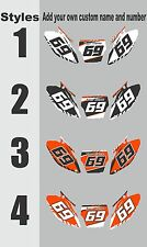 Number Plate Graphics for 2003-2012 KTM SX85 SX 85 Side Panels Decal