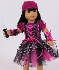 """Lovvbugg Purple Punk Pirate Costume for 18"""" American Girl Doll Clothes"""