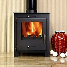 5KW Nero 5 Black Contemporary Woodburning Stove Stoves Multi Fuel Wood Burner