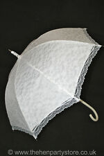 VICTORIAN IVORY CREAM LACE WEDDING BRIDE RACE'S PARASOL UMBRELLA WATERPROOF