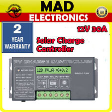 12V 30A Solar Panel Charger Controller SBC7130 Caravan Car Boat SBC-7130