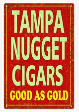 Vintage Tampa Nugget Cigars Sign Natsalgic Cigar Signs