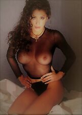 "SABRINA SALERNO ~  BIG BOOBS ~ SEE THRU ~ SEXY 7X5"" GLOSSY POSTCARD."